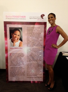 Sharing my story with Coalition of Blacks Against Breast Cancer!