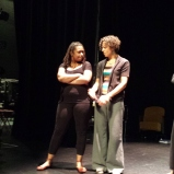 Accomplished actors Yolanda London and Ashley Hare collaborating on an emotional scene.