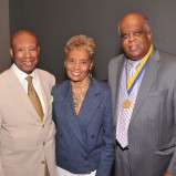 Dr. and Mrs. Bernard C. Watson, Sr. with Cobb Institute Exec. Director Dr. Randall Morgan, MD