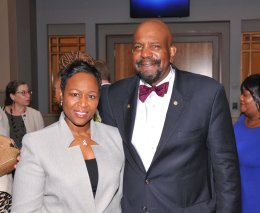PWCF Board Chair, Prof. Tonya M. Evans, Esq., and Cobb Institute's founding Board Chair, Cato T. Laurencin, M.D., Ph.D.